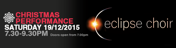 Eclipse Choir Christmas Concert 2015 banner