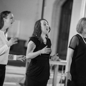 Liz Fisher, Jenny Smith and Emma Tracey singing Oceans