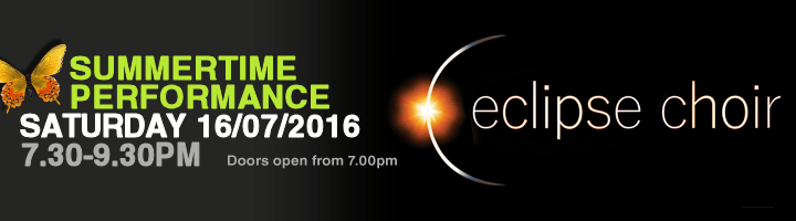 ECLIPSE CHOIR SUMMER CONCERT BANNER