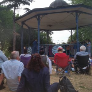 Audience for our summer garden performance