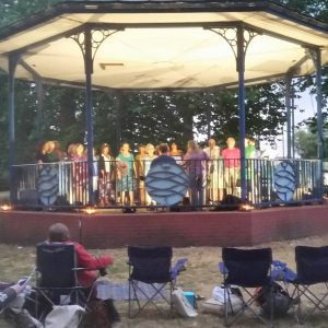 Eclipse Choir in Canbury Gardens bandstand