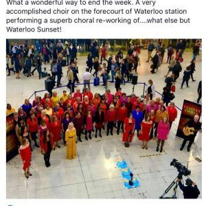 Eclipse Choir Waterloo ariel view and comment on Facebook